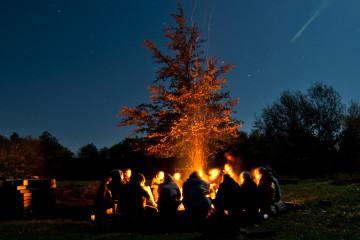 The danger of stories around a campfire!